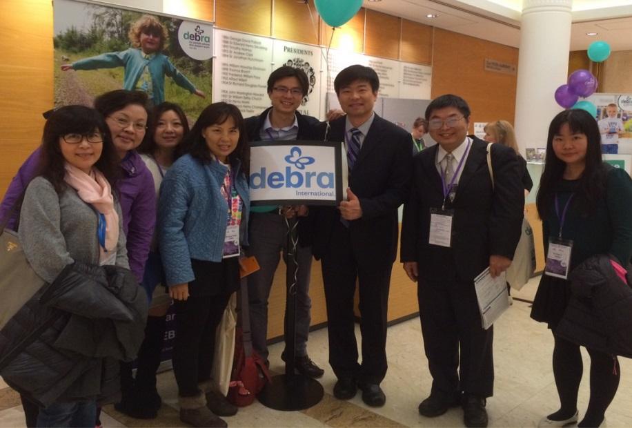 台灣EB團隊與大陸北京的皮膚科徐主任於會議現場合影